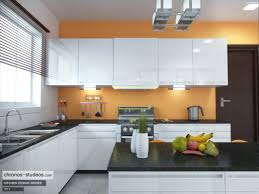 your home interior ideas crisp white high gloss kitchen design