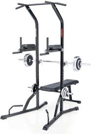 Bench Press Machine Weight Power Tower Exercise Equipment Workout Home Gym Squat Rack Bench