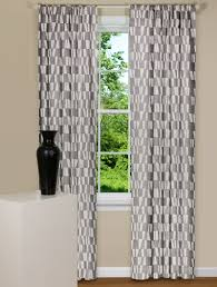 White Contemporary Curtains Modern Grey And White Geometric Shaped Curtain Panels