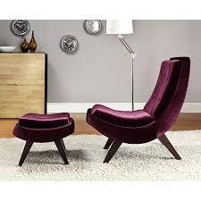 velvet chair and ottoman albury purple velvet chair and ottoman set for the home
