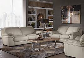 Beige Leather Living Room Set Home Grand Palazzo Beige Leather 3 Pc Living Room