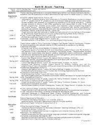Example Resume For Teacher 100 Resume Samples For Physical Education Teacher Resume