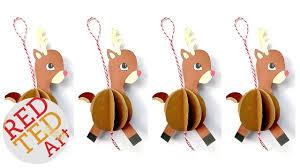 easy paper reindeer ornament diy including printable diy