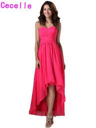 online get cheap fuchsia high low dresses aliexpress com