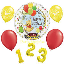 singing birthday balloons pooh happy birthday singing balloon package by partysurprise