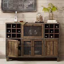Reclaimed Wood Bar Cabinet Rustic Wine Rack Wide Liquor Cabinet Reclaimed Wood