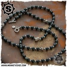 black agate necklace images Monkey edge starlingear necklace vintage line silver slickster jpg