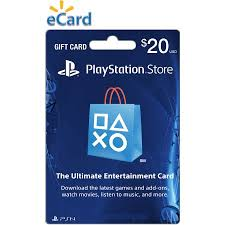 ecard gift card 20 playstation store gift card sony digital