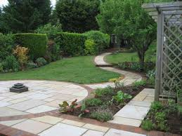 backyard with slope sloped backyard ideas on pinterest sloping