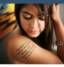 upper arm tattoo words 2015