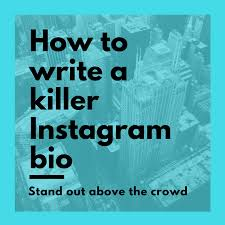 how to write a killer instagram bio stand out above the crowd