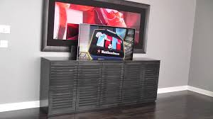 tv lift cabinet modern by belak woodworking llc youtube