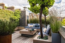 small roof garden with decking garden design ideas