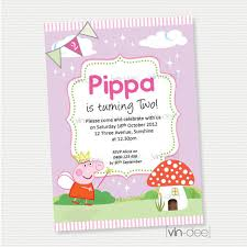 birthday invites exciting peppa pig birthday invitations ideas