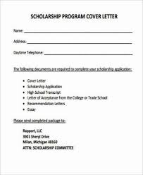 scholarship cover letter example