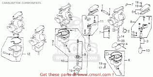 honda cb750k 750 four k 1978 usa carburetor components schematic