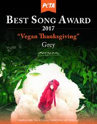 vegan rapper grey wins best song award for iconic thanksgiving rap