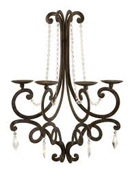 Crystal Candle Sconce French Style Chandelier Wall Sconce Candle Holder With Crystal