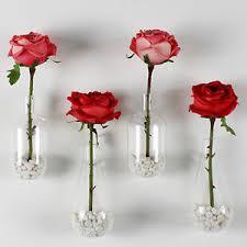 4 x wall hanging crystal flower vase plant glass terrarium