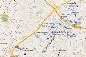 map of downtown los angeles downtown los angeles a photo tour and guide