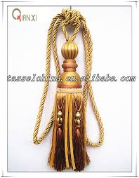high quality home decor curtain tiebacks with beads large single