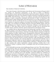 sample motivation letter template 6 download documents in pdf word