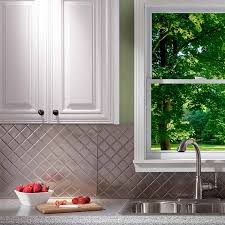fasade kitchen backsplash fasade backsplash quilted in brushed nickel