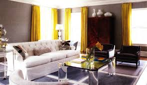 curtains exceptional gratifying delightful bright yellow living