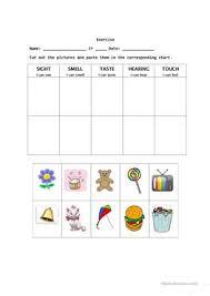 72 free esl senses worksheets