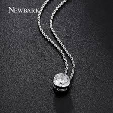 necklace zirconia images Newbark simple round 1 carat cubic zirconia solitaire pendant jpg