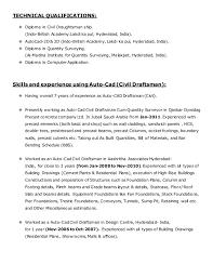 Draftsman Resume Sample by 28 Civil Draughtsman Resume Sample Resume For Draughtsman 7