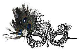 peacock masquerade masks aloma laser cut metal black venetian women s masquerade mask w