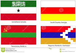 Ga State Flags Unrecognized State Stock Vector Image Of Nation Sahrawi 59826586