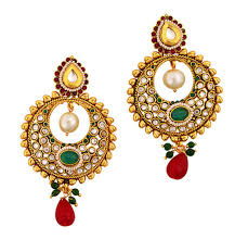 gold plated earrings gold plated polki earrings gold gold jewellery gold more in