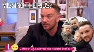 jamie o u0027hara still hasn u0027t seen his kids since leaving celebrity