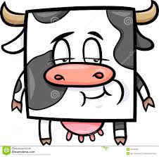 square cow cartoon illustration stock vector image 40109432