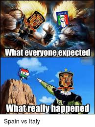 Spain Meme - italia fig what everyone expected 10 whatreallyhappened spain vs