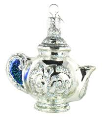 world teapot glass ornament home kitchen