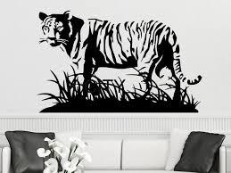 Hunting Home Decor Aliexpress Com Buy Wall Decal Tiger Vermin Hunting Vinyl Sticker