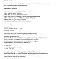 Delivery Driver Resume Examples by Cdl Resume Resume Cv Cover Letter