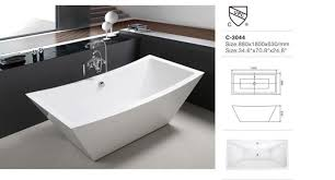 easy clean new design acrylic bathtub with prices reviews