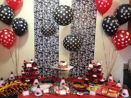ladybug wrapping paper amazing 1st birthday party table the wrapping paper on the wall