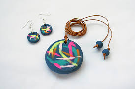 make your own earrings studs make a painterly pendant and a pair of earrings with polymer clay