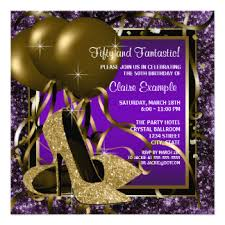 gold womans 50th birthday party invitations u0026 announcements