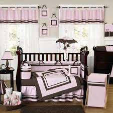 Brown And Pink Crib Bedding Hotel Pink And Brown Modern Baby Bedding From Sweet Dreams My