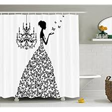 amazon com extra long shower curtain quotes decor by ambesonne