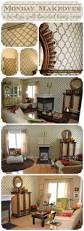 Accent Wall Patterns by Monday Makeover A Heritage Grill Stenciled Living Room Stencil