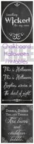 free halloween chalkboard printables save the top and over the