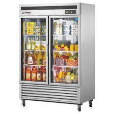 true 2 door glass cooler true stm1r 1s refrigerator one door extra deep top mount