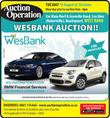 auction operation bank repo u0026 fleet vehicles west rand